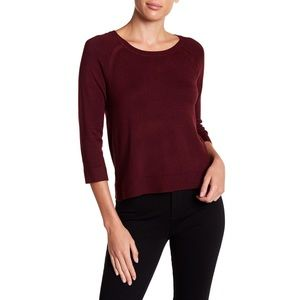 Philosophy Apparel 3/4 Sleeve Red Sweater Size XL